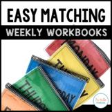 Easy Matching Weekly Workbooks