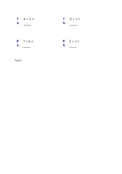 Easy Math Worksheet