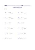 Easy Math Worksheet