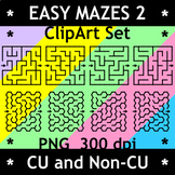 Easy Mazes Clipart Set 2, CU and Non-CU
