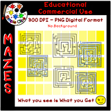 Easy Mazes - Set 1 - No Background & Commercial Use {Simpl