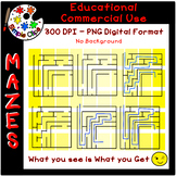 Easy Mazes - Set 2 - No Background & Commercial Use {Simpl