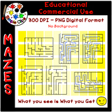 Easy Mazes - Set 3 - No Background & Commercial Use {Simpl