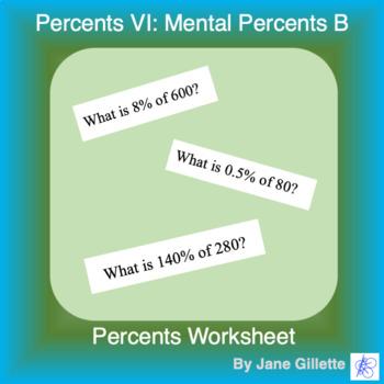 Percents VI - Mental Percents B