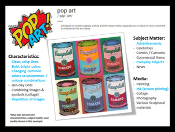 Easy Middle School Art Lesson Project: Pop Art! Giant Snack Foods