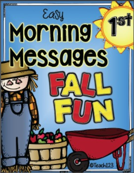 First Grade Fall Morning Messages