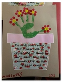 Easy Mother's Day Craft, card, and questionnaire. Also in SPANISH