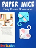 Easy Mouse Corner Bookmark - STEAM Origami Projects (Year of the Rat)