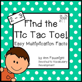 Easy Multiplication: Find the Tic Tac Toe