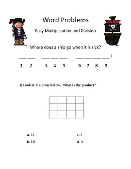 Easy Multiplication and Division Mystery Joke: most with pictures