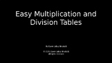 Easy Multiplication and Division Tables, a learning tool!