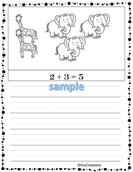 Easy.. NO Prep Printables... Write An Equation! Write a Word Problem! Color