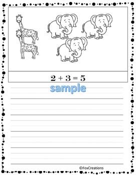 Easy.. NO Prep Printables... Write An Equation! Write a Word Problem! Color