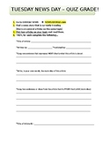 Easy News Story Search Worksheet Activity - Analyze and Co