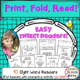 Easy No PREP Insect Booklets for Beginning Readers
