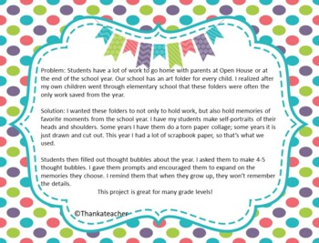 Easy No Prep End of Year Art Project for Any Grade