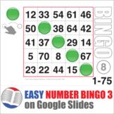 Easy Number Bingo 1-75