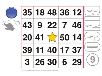 Easy Number Digital Bingo 2