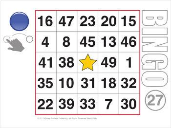 Easy Number Digital Bingo 2