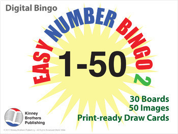 Number Bingo 1-50 Digital