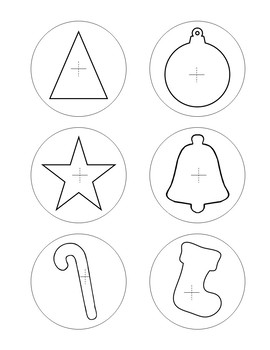 Easy Ornament Craft Template ~ Scissor Practice Activity