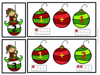 Early Adding 0-10 Christmas Theme