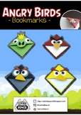 Easy Paper Angry Birds Bookmarks