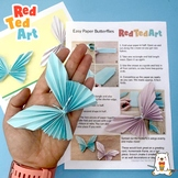 Easy Paper Butterfly - Simple STEAM Project, Lesson Plan &