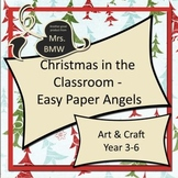 Easy Paper Craft Christmas Angels