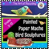 Easy Papier Mache Bird Sculptures - Recycled Art