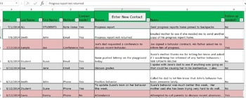 Easy Parent Contact and Communications Record Log
