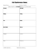 Easy Parent-Teacher Conference Notes