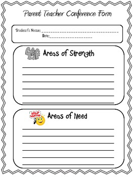 Easy Parent/Teacher Conference Form