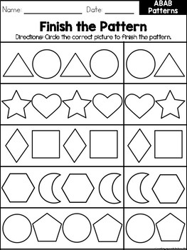 Easy Patterns Workbook FREEBIE
