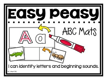 Easy Peasy ABC Mats