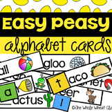 Easy Peasy Alphabet Cards