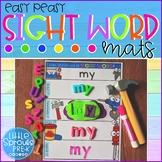 Easy Peasy Construction Sight Word Mats - Preschool, PreK, Kinder