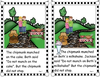 Easy Peasy Decodable Reader - A Picnic with a Chipmunk (Two Syllable Words) (OG)