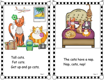 Easy Peasy Decodable Reader - Cats, Cats, Cats! (Short Vowels) OG)