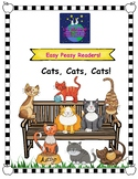 Decodable Easy Peasy Reader - Cats, Cats, Cats! (Short Vow