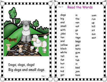 A FREEBIE! Easy Peasy Decodable Reader - Dogs, Dogs, Dogs! (OG)