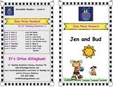 Easy Peasy Decodable Reader - Jen and Bud (Short Vowel U) (OG)