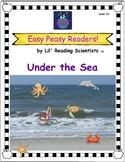 Decodable Easy Peasy Reader -  Under the Sea (Vowel Teams,