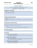 Easy-Peasy Formal Lesson Plan Template