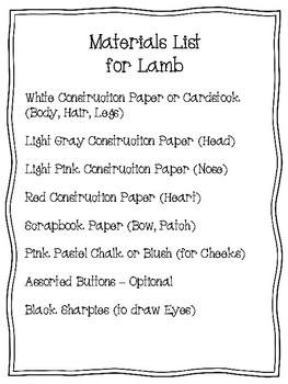 Easy-Peasy Lamb Craft