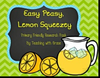 Easy Peasy, Lemon Squeezy: A Primary Friendly Research Pack