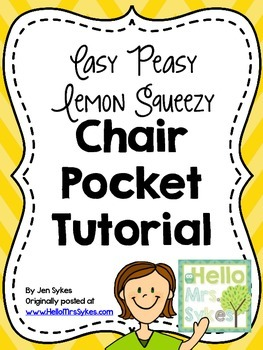 Chair Pocket Tutorial Free Pattern for Sewing