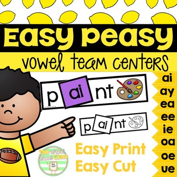 Easy Peasy- Long Vowel Team Centers
