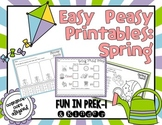 Easy Peasy Math & Literacy Printables: Spring