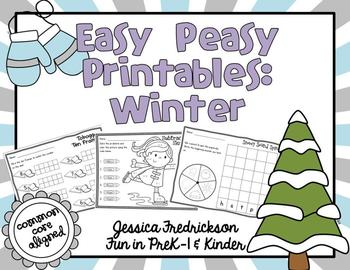 Easy Peasy Math & Literacy Printables: Winter